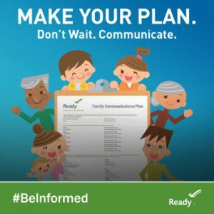 FEMA Graphic - Communicate Plans with Family