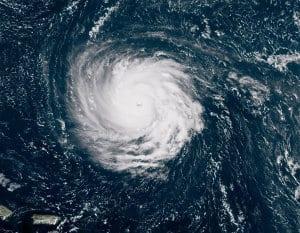 Satellite image of hurricane Florence on Sept 10.