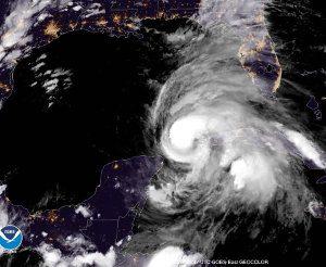 GOES East Hurricane Michael Sattelite Image October 8, 2018