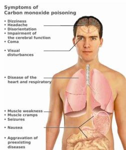Symptoms of Carbon Monoxide Poisoning Infographic