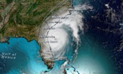 Hurricane Dorian as it travel north along the East Coast- With Affected Cities and States