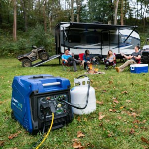 iGen4500 Dual Fuel running on propane at an RV campsite.