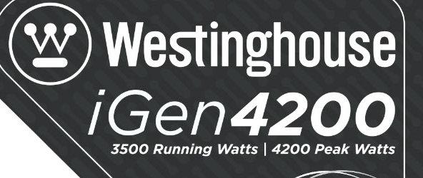 Westinghouse iGen4200 RV Generator 3500 Running Watts 4200 Peak Watts