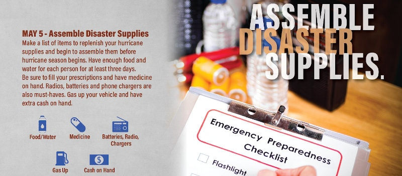 Assemble Disaster Supplies, Complete Your Checklist