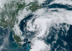 Tropical Storm Arthur Off the Coast of North Carolina Cape Hatteras