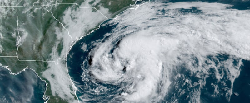 Tropical Storm Arthur South of Cape Hatteras South Carolina