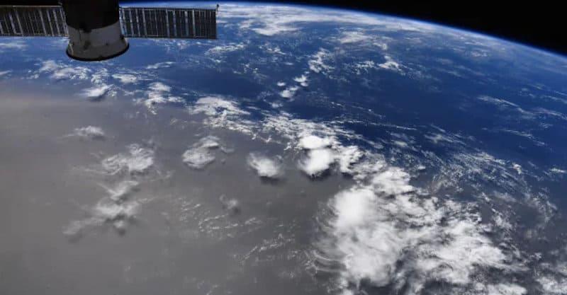 A Saharan Desert Dust Cloud over the tropical Atlantic and Caribbean Sea