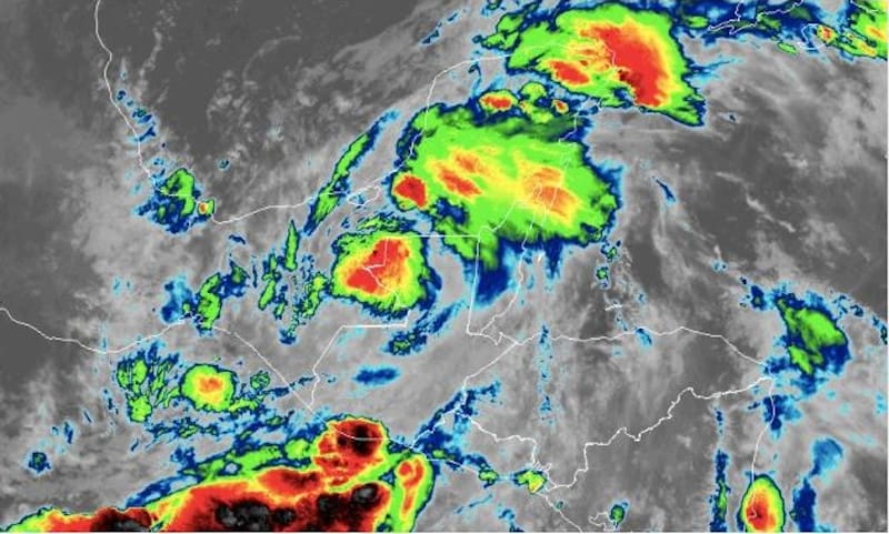 Tropical Storm Cristobal Over Mexico on June 4. Enhanced Satellite Image NOAA/GOES East