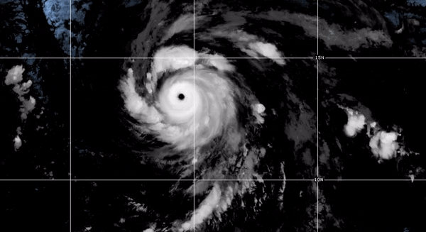 Hurricane Douglas on 23 July 2020. NOAA GOES East Satellite Image