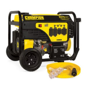 Champion 7500-Watt Electric Start Portable Generator with 25-Foot Power Cord.