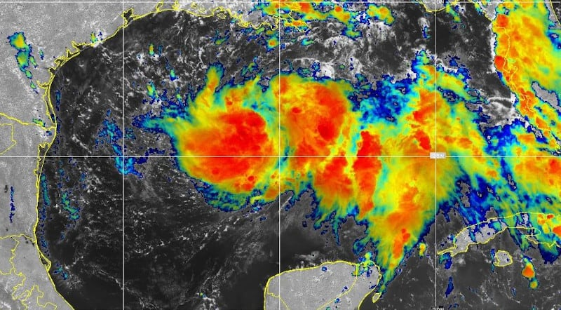 Tropical Depression Eight on July 23. NOAA GOES East Satellite Image