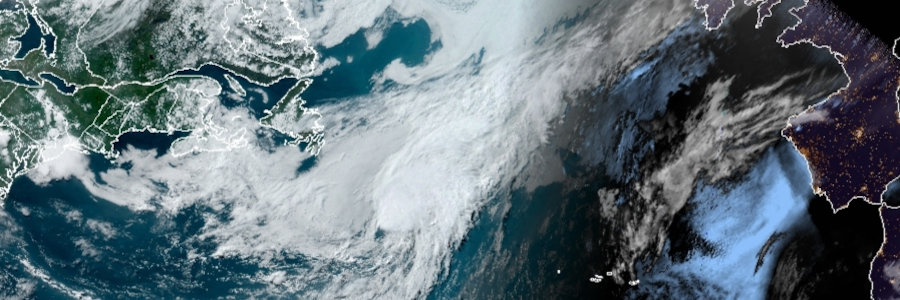 GOES Satellite Image of Tropical Storm Edouard over the North Atlantic