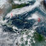 Tropical Cyclones Wilfred, Alpha & Beta