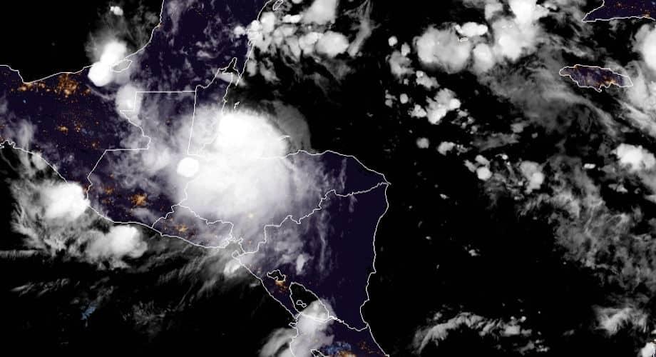 Hurricane Nana Hours Before Landfall in Belize. NOAA GOES 16 Image
