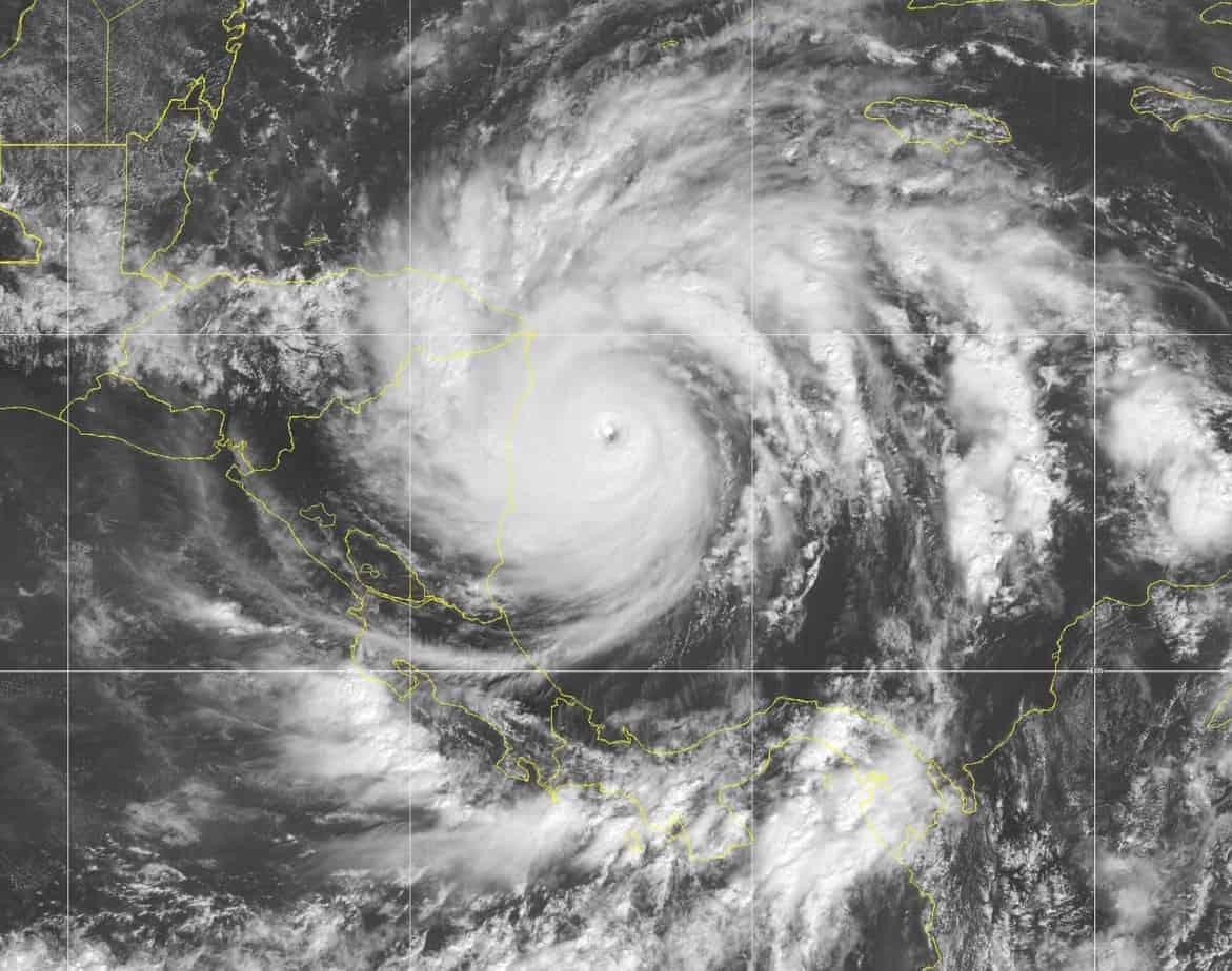 Category 5 Major Hurricane Iota Before Landfall in Nicaragua