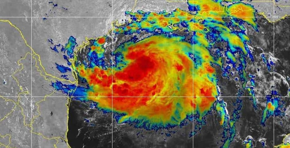 Hanna before it became a hurricane on July 24, 2020. GOES EAST Satellite Image