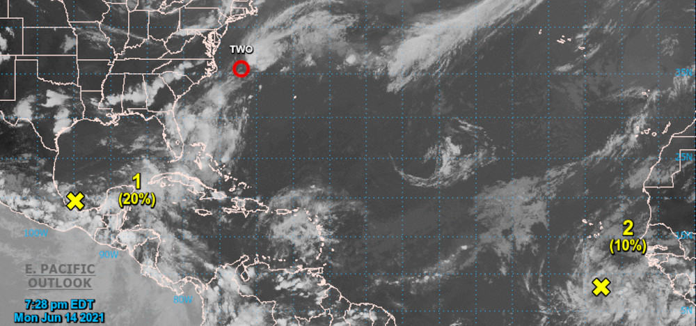 Tropical Storm Bill—Second Named Storm of 2021