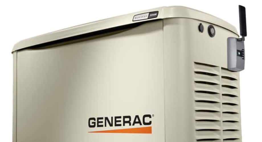 Generac Guardian Generator withe Mobile Link Cellular Accessory Attached.