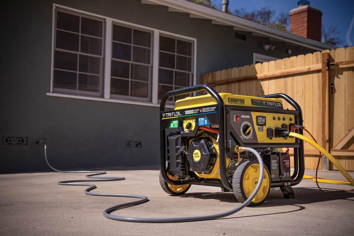 Champion Tri-Fuel 8000 Watt Generator