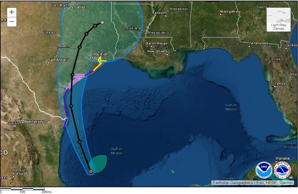 Tropic Storm Nicholas on Track for Texas—Possible Hurricane Before Landfall