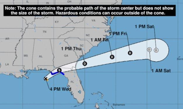Tropical Storm Mindy Forms Off Florida Panhandle