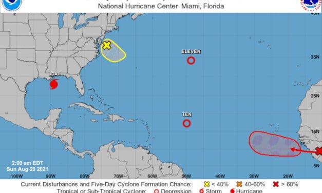 Active Atlantic Basin as the 2021 Hurricane Season Nears Peak